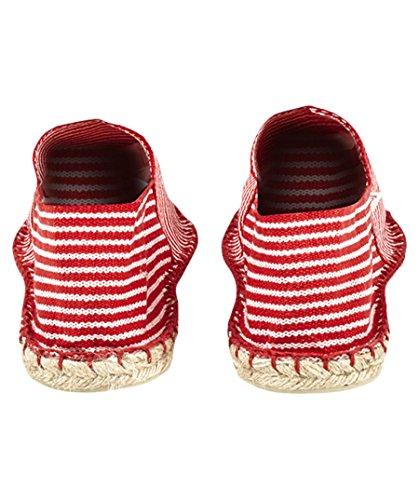 40 Espadrilles 9 Size US Rouge ECRU Classic EU Cotton Womens LORIGINALE Espadrij wUCqgg