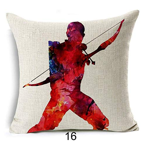 YarnCorp-Pillow Covers-Marvel Comics Super Hero Cushion Cover Captain America Hawkeye The Avengers Home Decorative Pillow Cover for Sofa Cojines (Model 01, 17x17inches) Hong Kong