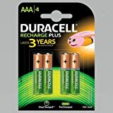 Duracell Recharge Plus AAA – 750 mAh Batteries -Pack of 4
