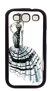 TUTU158600 Customized Dual-Protective galaxy s3 - Illustration beautiful purple dress