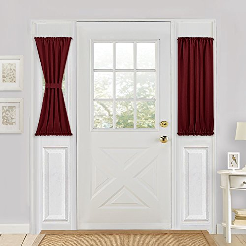 red french door panel curtains 1