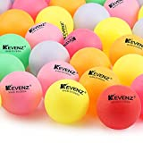 50 Counts KEVENZ 40mm Beer Ping-Pong Balls Multipul Color, PlasticTable Tennis Ball