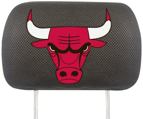 FANMATS  12521  NBA Chicago Bulls Polyester Head Rest Cover by Fanmats