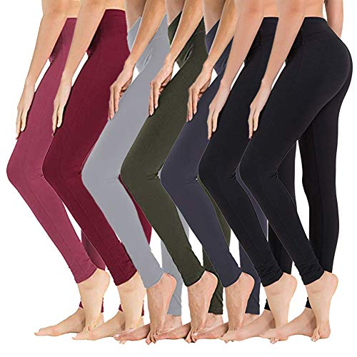 SYRINX High Waisted Leggings for Women - Soft Athletic Tummy Control Pants for Running Yoga Workout
