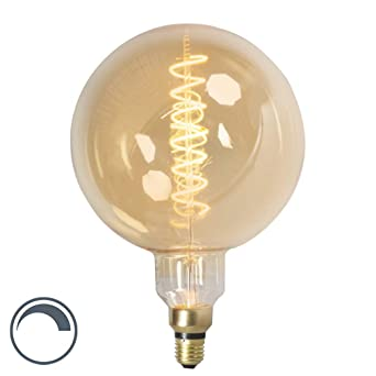 Calex Filaments Globe E27 Led 240v 4w Dimmable Torsadés Ampoule Mega E29DIH