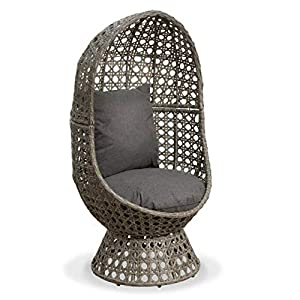Cocooned Swivel Egg Chair Outdoor Rattan