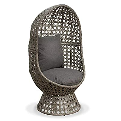 Cocooned Swivel Egg Chair Outdoor Rattan