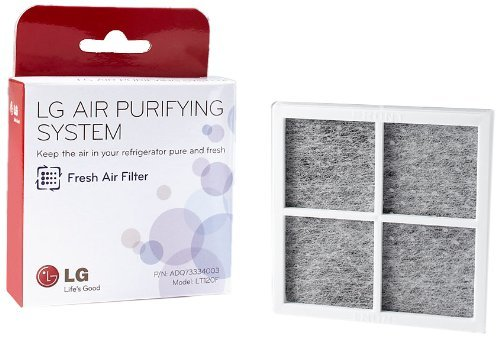 LG LT120F Replacement Fresh Air Filter for Refrigerators, White (2 ()