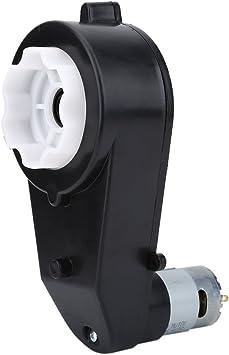 Caja de engranajes con motor de 6 V // 12 V motor el/éctrico resistente al desgaste Caja de engranajes para ni/ños Coche de juguete caja de engranajes de 1 ruido de bajo ruido 12V 18000 RPM