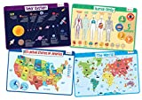 merka Explorer Set - Educational Kids Placemats Set of 4