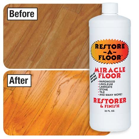 Restore-A-Floor Floor Finish - Wood Floor Polish and Hard Wood Floor Wax to Rejuvenate Floors Including Marble Floors, Vinyl Floors, and Laminate (Marble Wax)