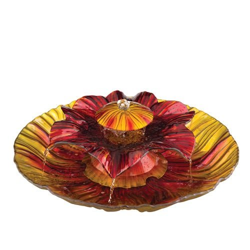 (Regal Art & Gift 3-Tier Fountain, Red/Amber, 20-Inch)