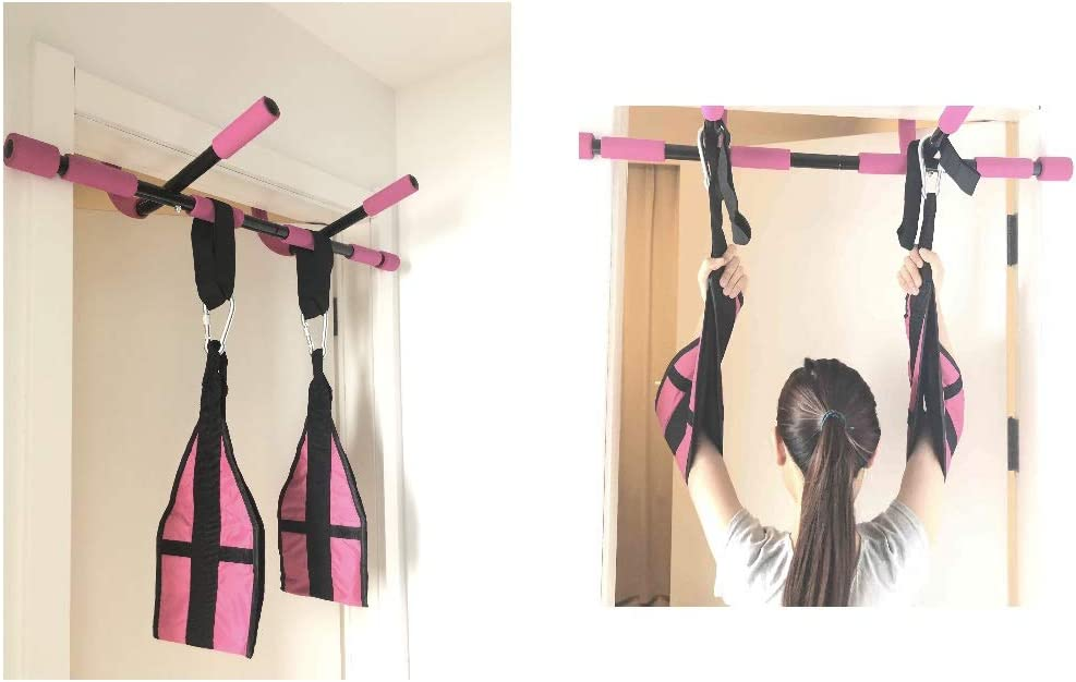 SOTASTIC Pull Up Bar for Doorway Original Push Up Door Bar at Home Office Gym Stainless Steel No Drilling Needed Fitness Tool