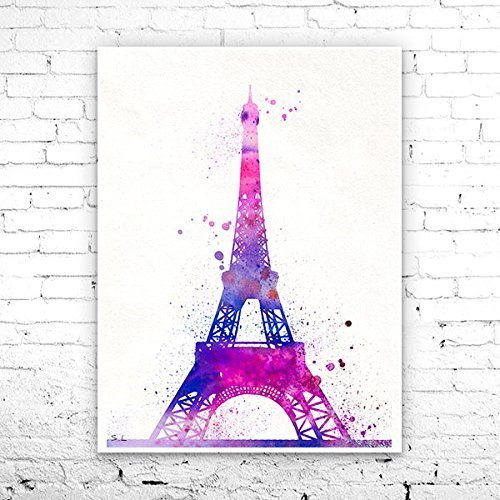 picture about Printable Pictures of the Eiffel Tower called : Eiffel Tower Paris Watercolor Print, Eiffel