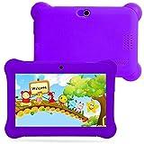 Kids Tablet PC 7 Android 4.4 Case Bundle Dual Camera 1.2Ghz Wi-Fi Bonus Items (7'', Purple)