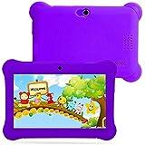 Kids Tablet PC 7 Android 4.4 Case Bundle Dual Camera 1.2Ghz Wi-Fi Bonus Items (7, Purple)