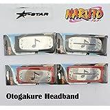 12pcs Naruto Orochimaru Otogakure Ninja Missing-nin Headband Tenia Kakuzu Style Cosplay Props Head Band