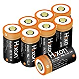 Rechargeable RCR123A Arlo Batteries(8pcs) and Charger, Hixon 700mAh RCR123A Protected Li-ion Battery and Quick Charger for Arlo HD Security Cameras, UN CE Certified