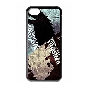 Personality customization TPU Case with Game of Thrones iPhone 5c Cell Phone Case Black
