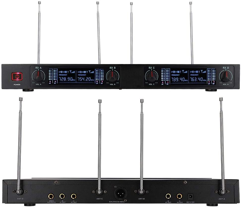 Garsent Wireless Microphone Set UHF 724 767 5MHz Channel Wireless Microphone System with Headset Microphone Professional Microphone Kit for Teaching Preaching Speaking etc