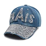 BAIELFES Letter Full Rhinestone Hat Men's and Women's Hip Hop Hat