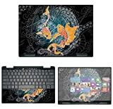 "Decalrus - Protective Decal Koi Fish Skin Sticker for Dell XPS 13 7390 2-in-1 (13.3"" Screen) case Cover wrap DellXPS-7390-2in1-42"
