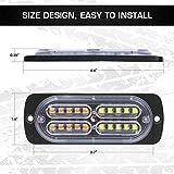 Linkitom 4pcs Ultra Slim Sync Feature 24-LED Car