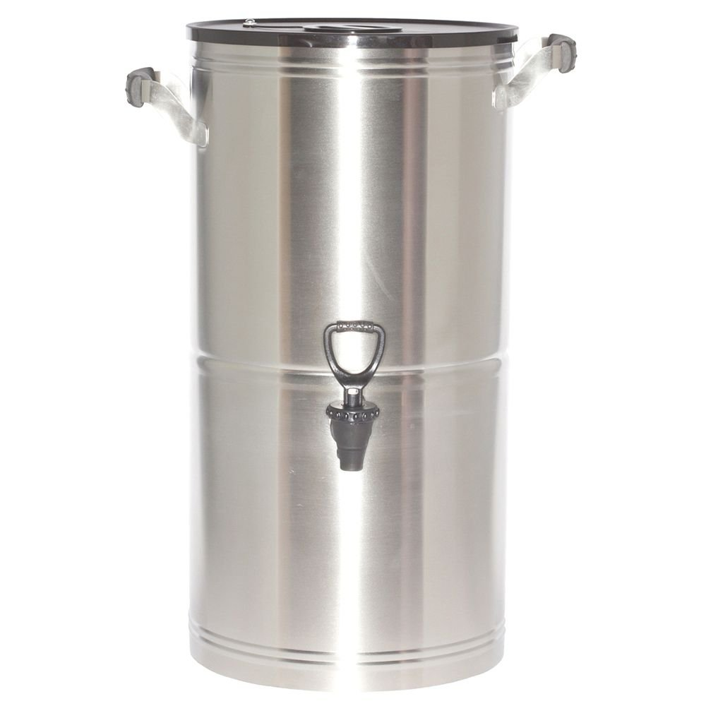 Service Ideas ITS5GPL Round Tea Urn, 5 Gallon (640 oz.), Brushed Stainless Steel