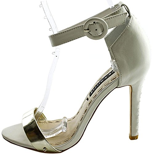 5 Pale Sandals Olivia Ankle Gold by and M White Bendet US EU Stacey Alice 8 Strap Gala Dress 5 38 zUpFnPwx