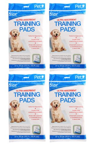 Cheap Large Ultra Absorbent Pet Training Pads (Total of 20 Pads) by Pet Inc.