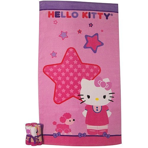 "Sanrio Hello Kitty ""Kitty and Me"" 7-Piece Bath Towel and Washcloths Set"