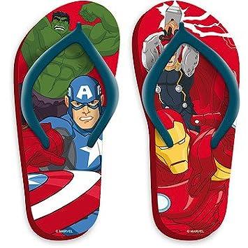 c035b6bea31f Marvel Avengers Flip Flops Size 12-13  Amazon.co.uk  Toys   Games