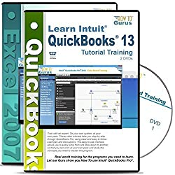 Intuit QuickBooks Pro 2013 Tutorial and Microsoft Excel 2007 Training on 4 DVDs