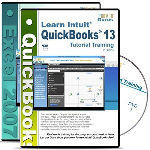 Intuit QuickBooks Pro 2013 Tutorial and Microsoft Excel 2007 Training on 4 DVDs (Best Excel Tips For Accountants)