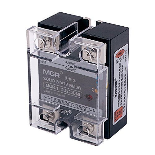 Mager SSR-60A DC-DC MGR-1DD220D60 Single Phase Solid State Relay input 3-32VDC output 5-220VDC Control current 5-25mADC