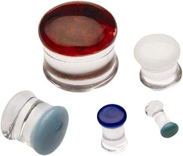 Price Per 1 Gorilla Glass Color Front Double Flare Plug