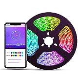 LED Strip Lights with APP, ELlight 16.4ft/5m Dream Color LED Lights, Waterproof RGB Rope Light APP, 150 LEDs SMD 5050 Flexible Light Strip for Home Bar