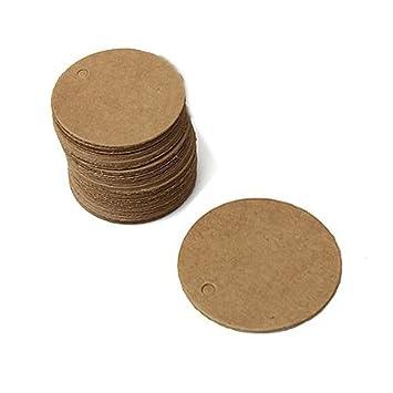eKunSTreet ® 200 Stück Rustikal Braun 40mm Runde Kleine Geschenk ...