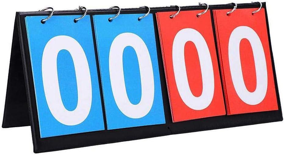 Sue-Supply Tablero De Puntaje Portátil - Tablero De Puntaje para Béisbol Fútbol Fútbol Ping Pong Fútbol Voleibol Baloncesto Pista De Tenis De Mesa (Azul Y Rojo)