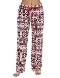 WallFlower Womens Warms and Cozy Plush Fuzzy Pajama Bottoms
