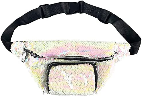 Sequin Holographic Fanny Pack//Bum Bag//Waist Bag// Festival Bag Variety Colours