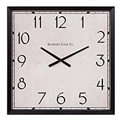Décor Therapy Modern Square Clock, Oversized, Black