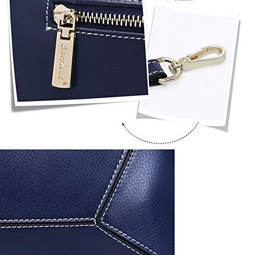 Main Cuir Mignon KYOKIM Supérieure Poignée Fashion Lightblue Sac Zipper En Véritable à EqRxHw7A