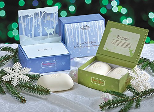san-francisco-soap-company-set-of-2-8-oz-bath-bar-soaps-gift-set-w-pop-up-holiday-forest-greeting-ca