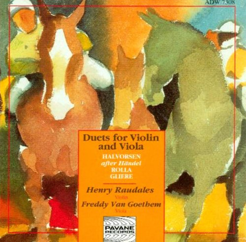 Passacaglia Handel Halvorsen Pianistos: Brustad, Violin And Viola Duos By