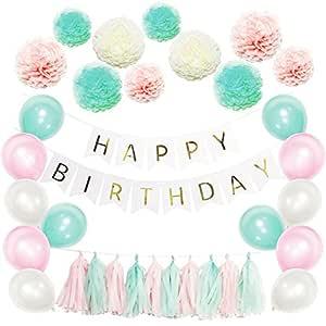 Party Decorations Party Supplies - 51 pompones de papel con flores ...
