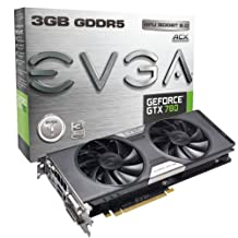 Evga Geforce Gtx 780 Dual Ftw Graphics Card With Acx Cooler 3Gb Gddr5 384-Bit Double Bios Dual-Link Dvi-I/Dvi-D Hdmi Dp Sli 03G-P4-3784-Kr