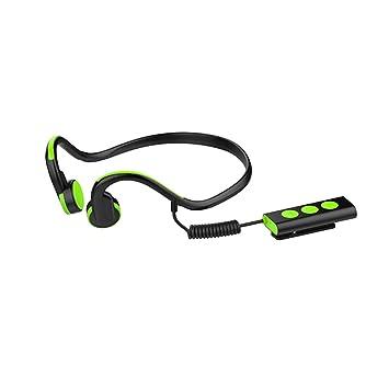 Baoduohui Audífonos portátiles de conducción ósea Bluetooth 4.1 inalámbrico, mejores auriculares de tereo de sonido Auriculares impermeables de deporte ...