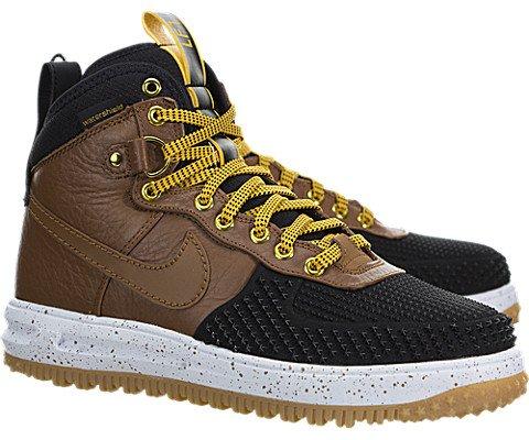 Nike Men's Lunar Force 1 Duckboot Black/Lt British Tan/Gold Dart Boot 9 Men US