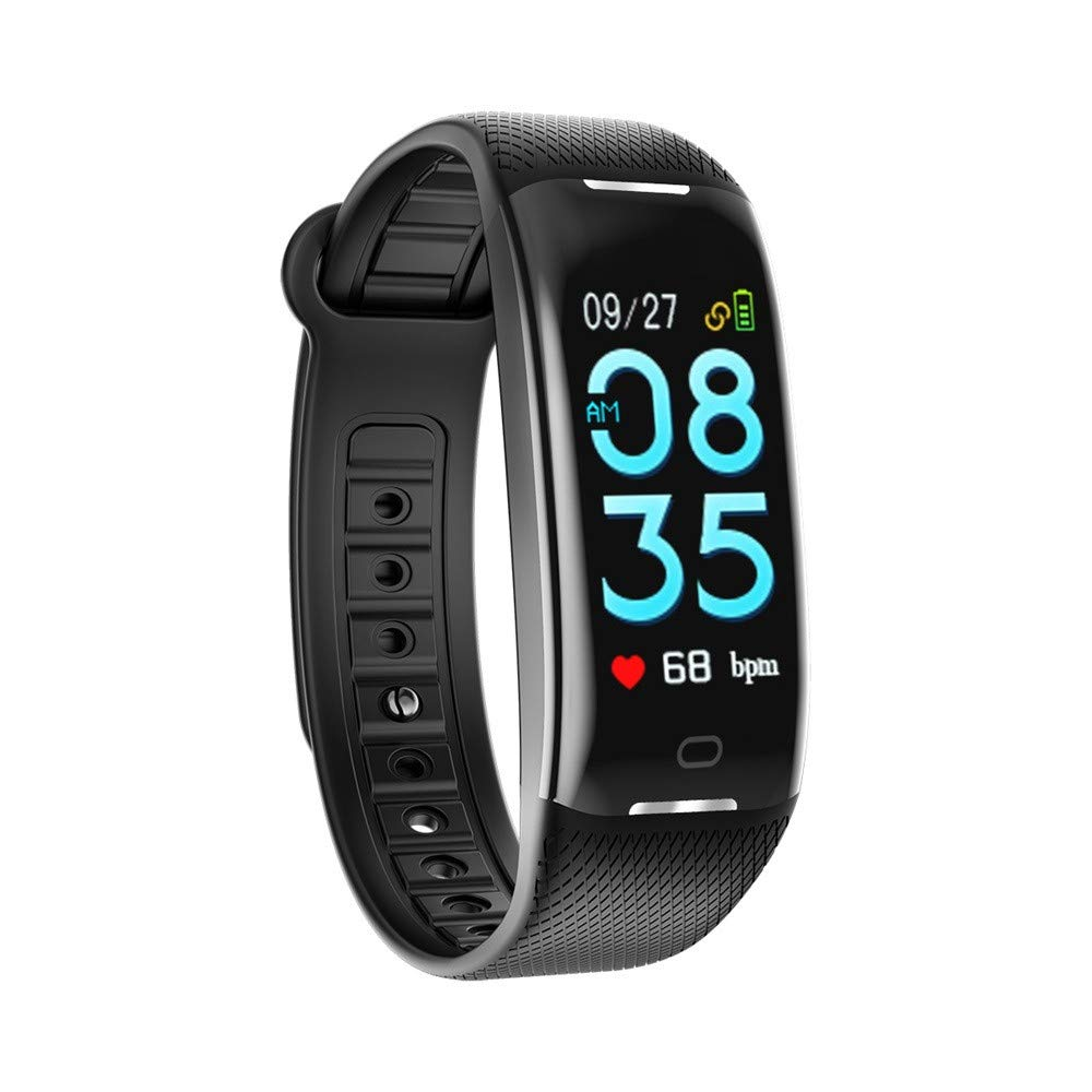 Cywulin Fitness Tracker IP67 Waterproof Smartwatch Activity Tracking Bracelet Heart Rate Sleep Monitor Pedometer Calories Step Counter iOS Android Phone Men Women Kids Screen Outdoor Sport (Black)